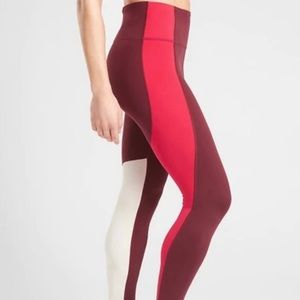 Athleta colorblocked leggings